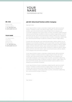 Lebenslauf Cover Letter Template