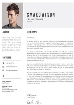 Job Application Cover Letter Template
