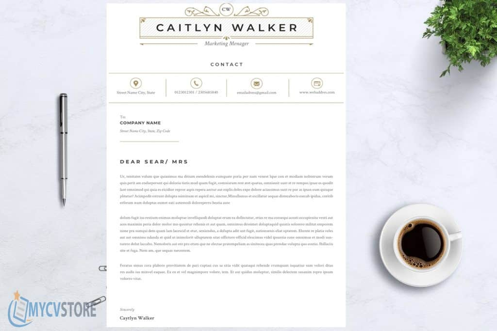 Caitlyn Cover Letter Template