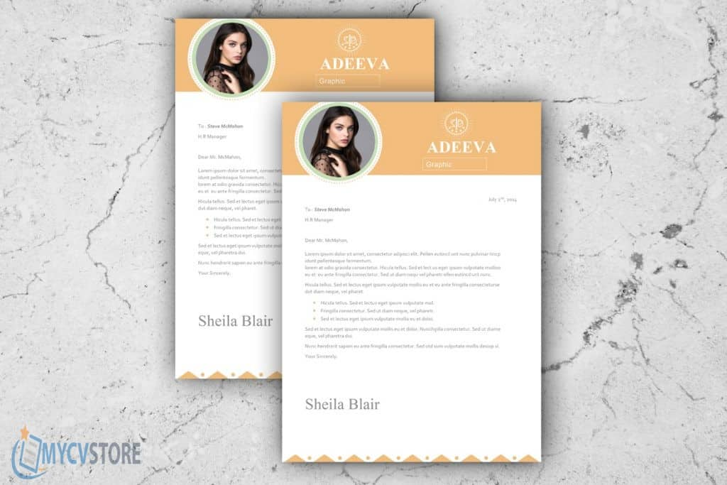 Blair Clean Cover Letter Template