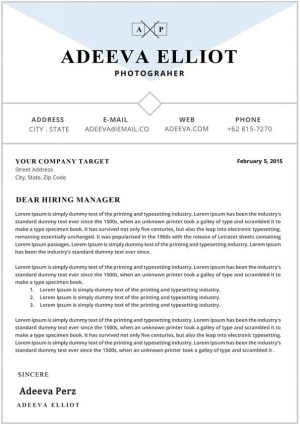 Editable Cover Letter Template