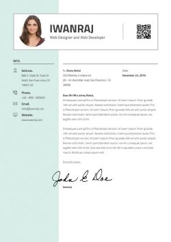 Graphic Designer Cover Letter Template