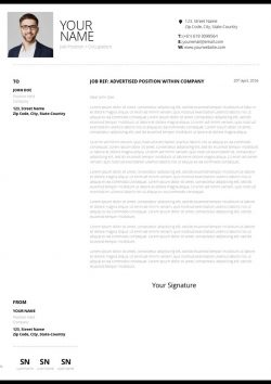 Clean Design Cover Letter