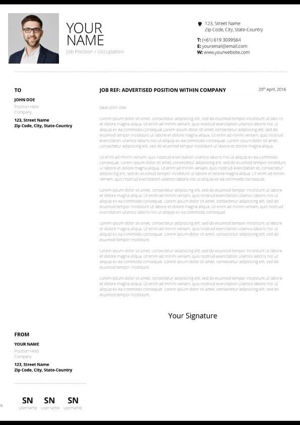 Clean Design Cover Letter