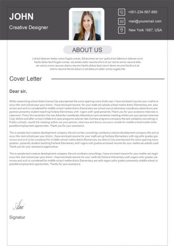 Classic Cover Letter Template