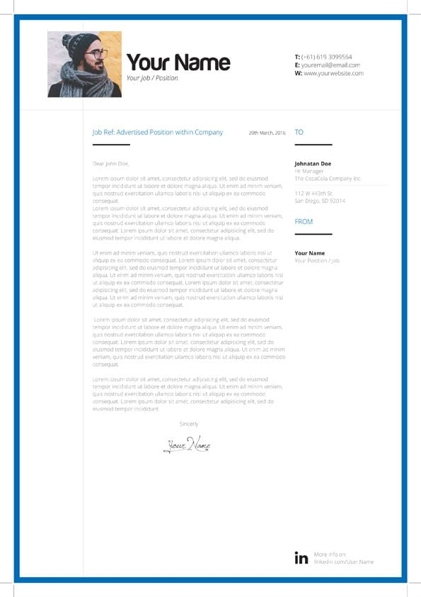 Cover Letter Free Template from www.mycvstore.com
