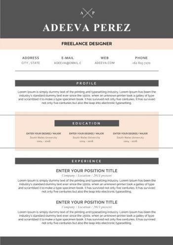 Simple Design Resume Template