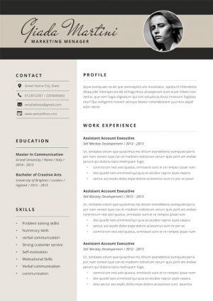 Digital Marketing Resume Template
