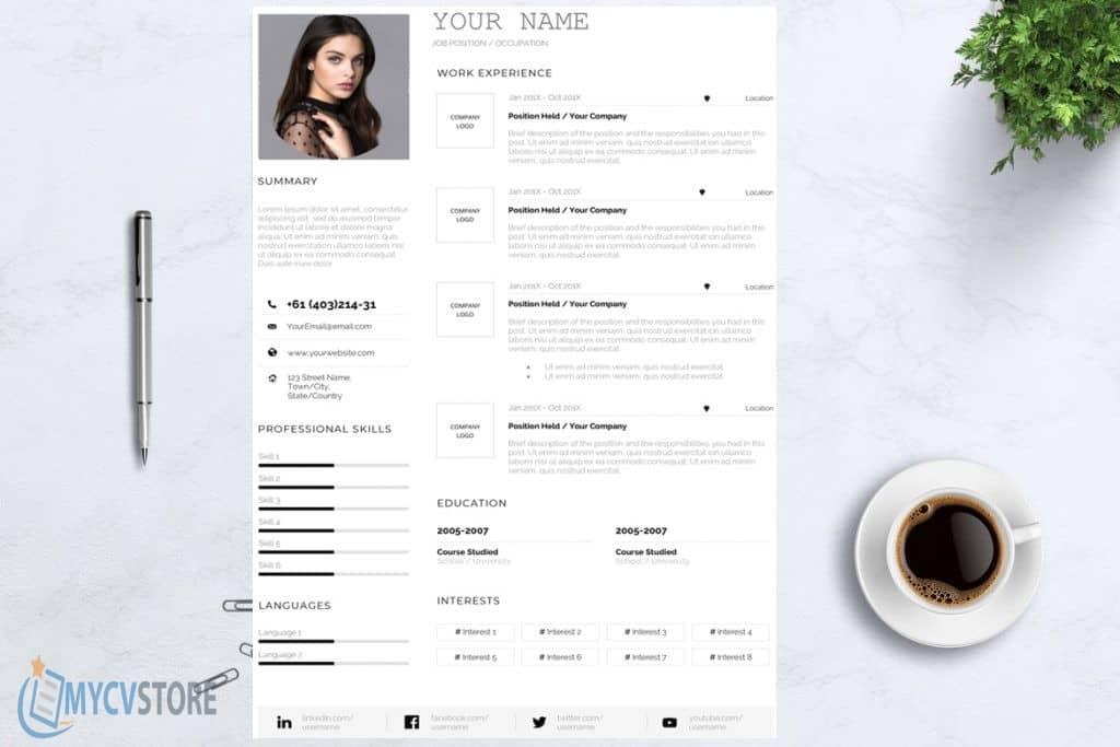 Clean CV Design Template