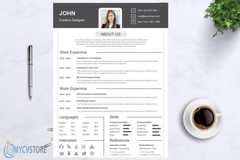 Classic Design Resume Template