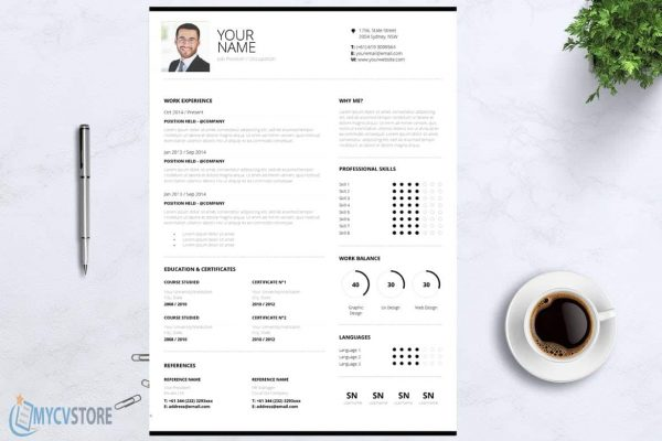 Clean Design CV Template