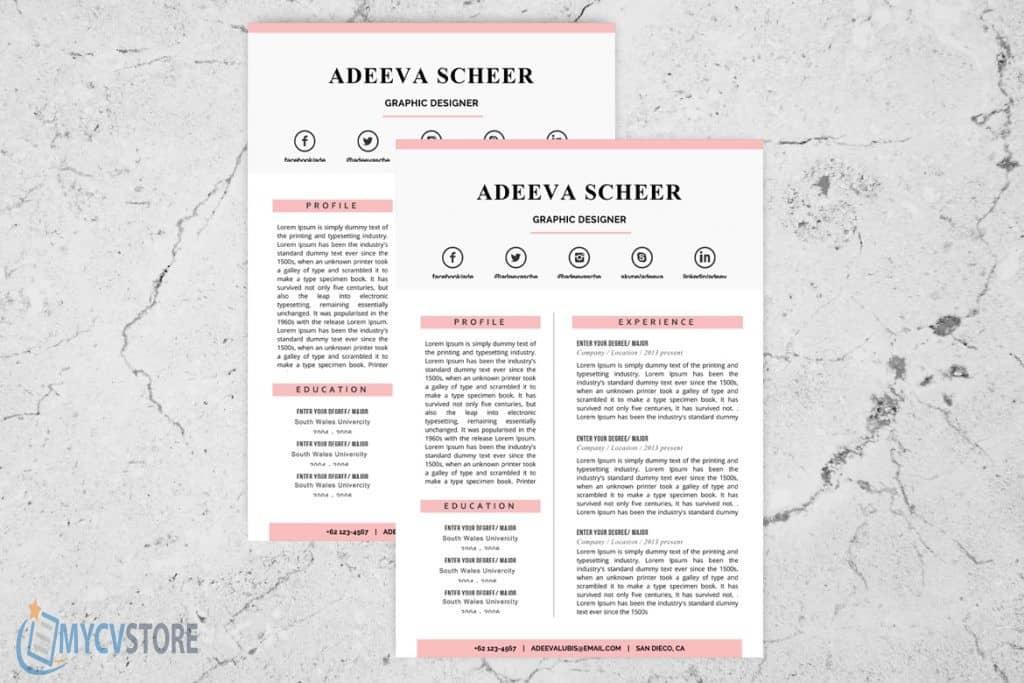 Scheer Resume Template