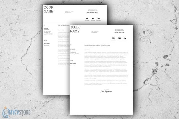 Infographic Cover Letter