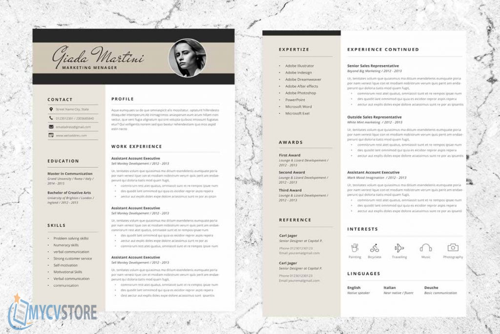 Digital Marketing Resume Template