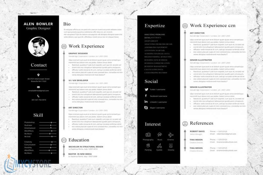 Hipster Resume Template