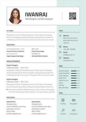Sharp Resume Template