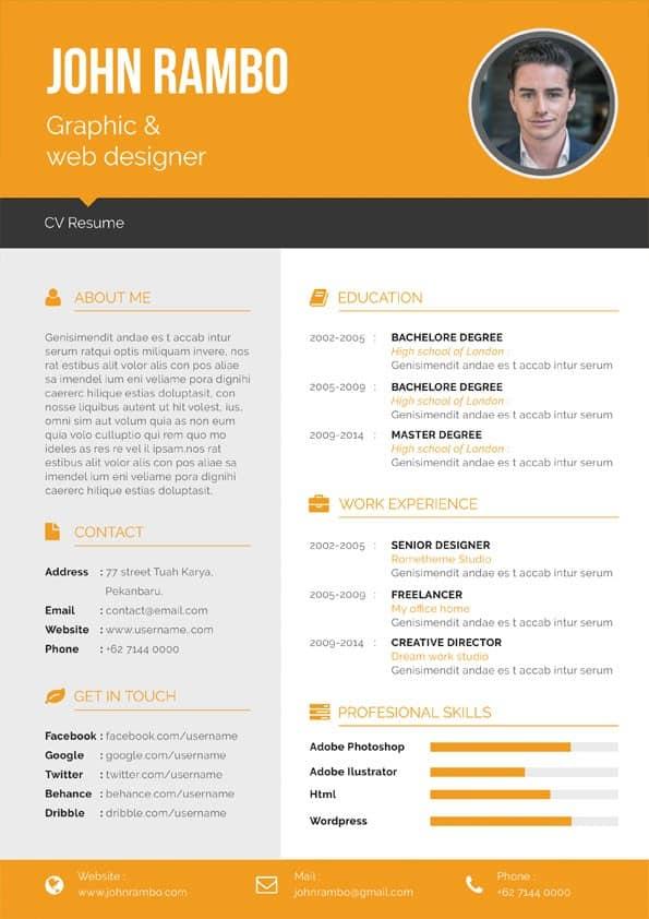 Modern Finance Manager CV