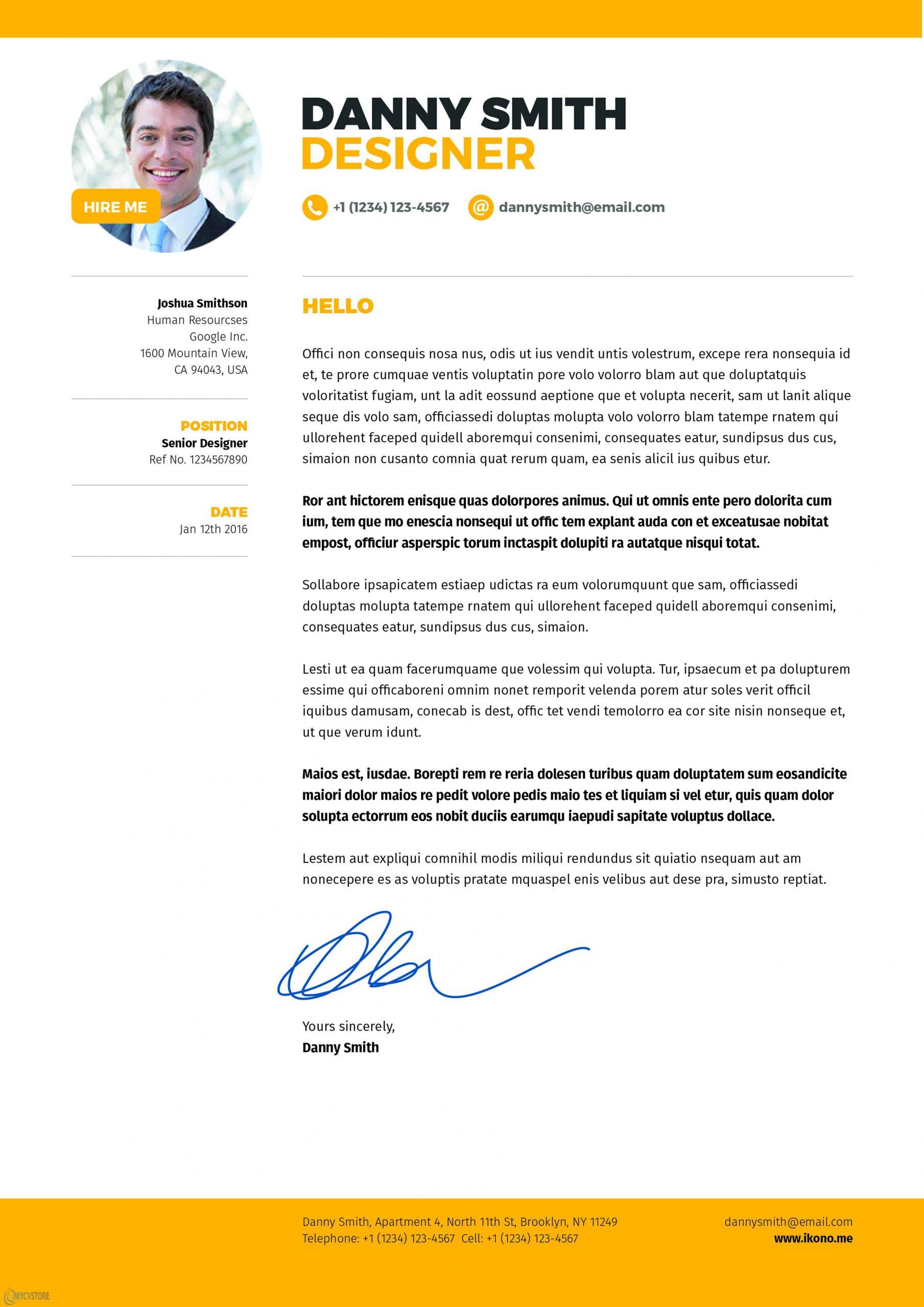 Modern Graphic Designer Cover Letter Template Mycvstore