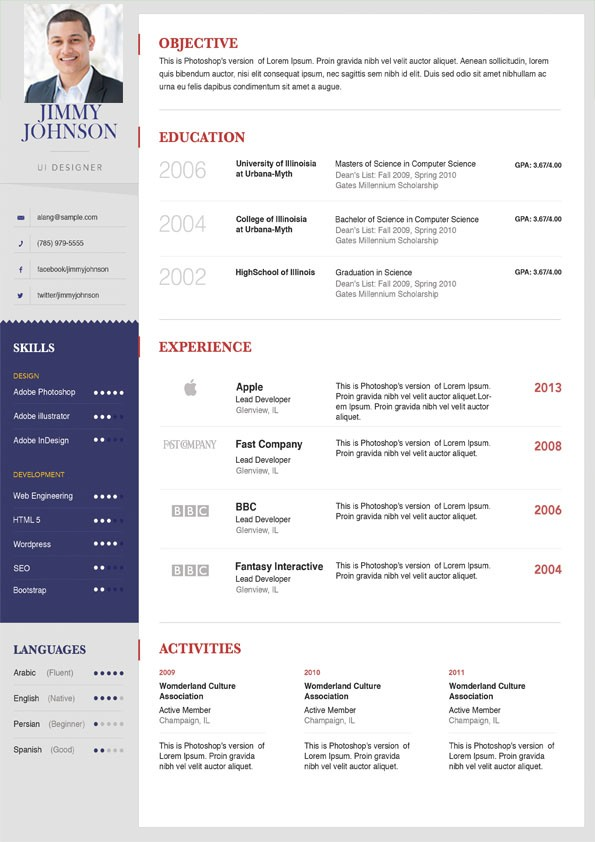 Clean Hr Management Resume