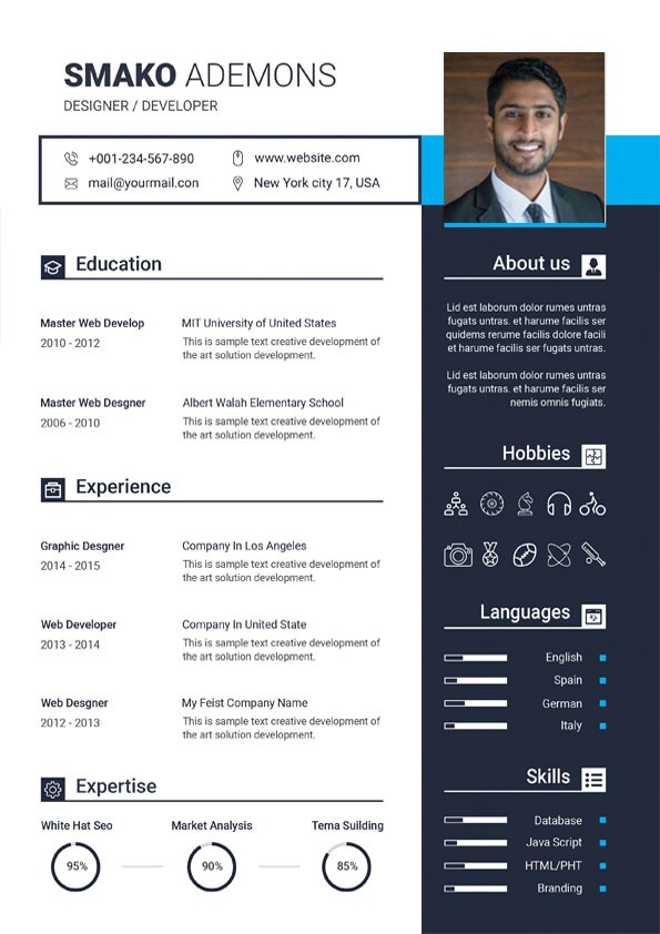 professional digital marketing resume