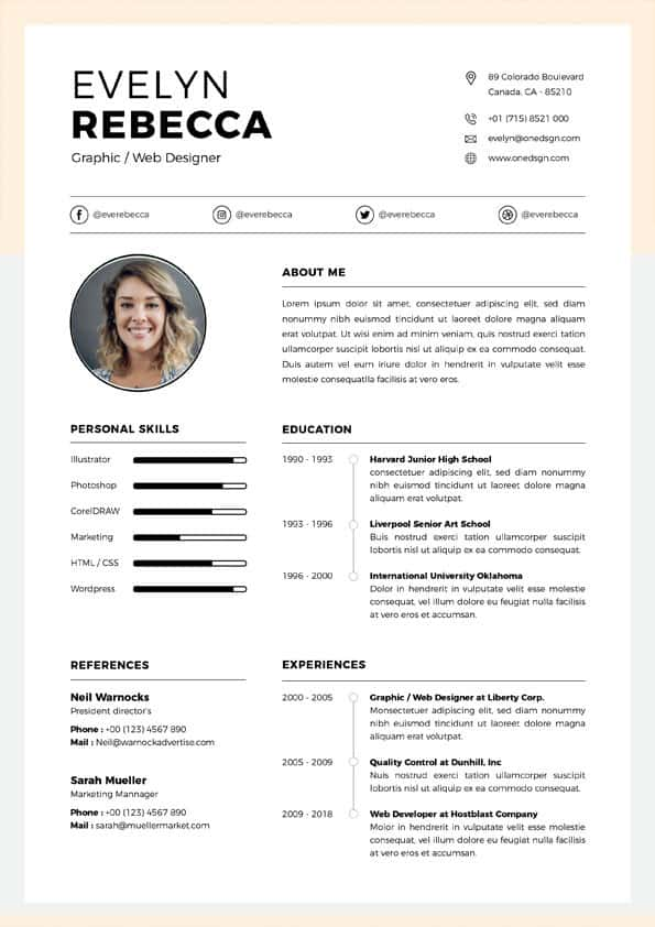 Clean Customer Service Resume