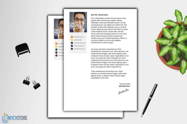Clean Colorful Cover Letter Template