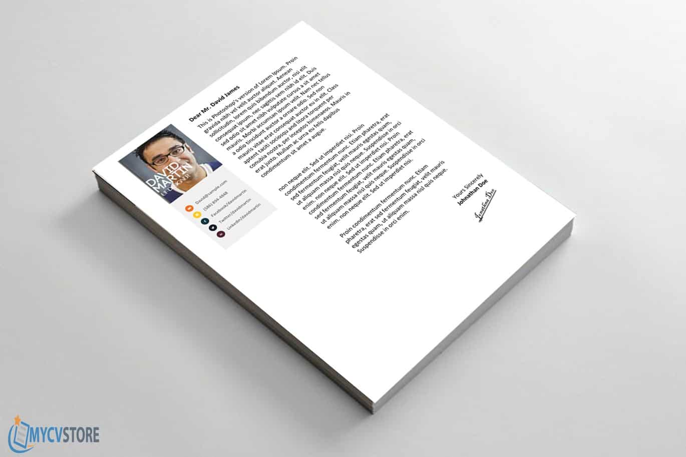 Clean Colorful cover letter Template1
