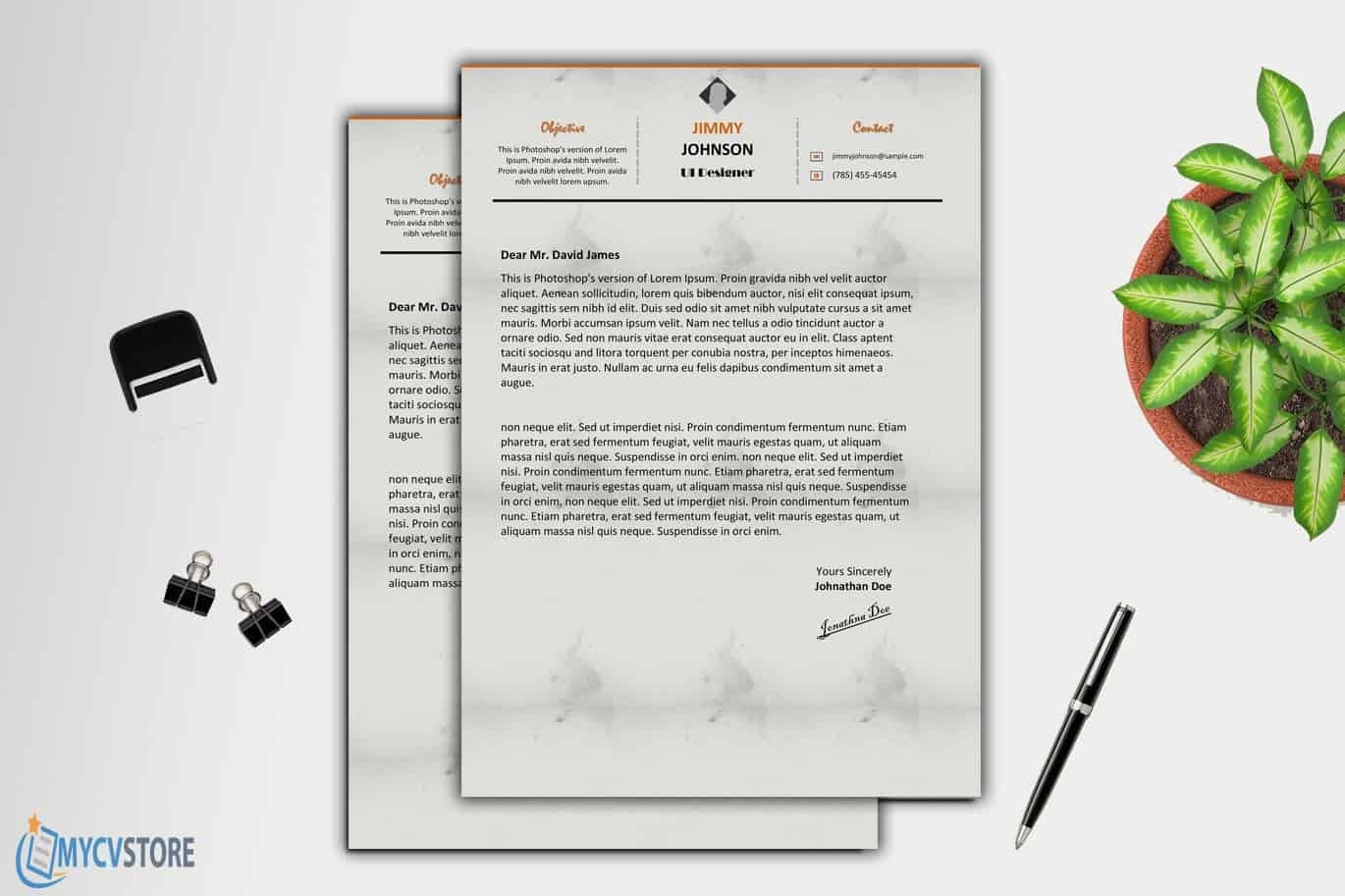 Clean Corporate cover letter Template