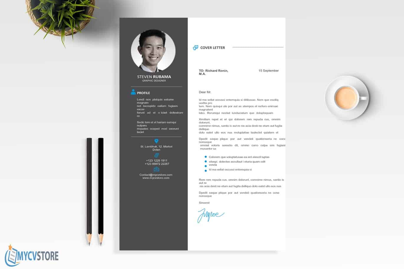 Clean Design Cover Letter Template