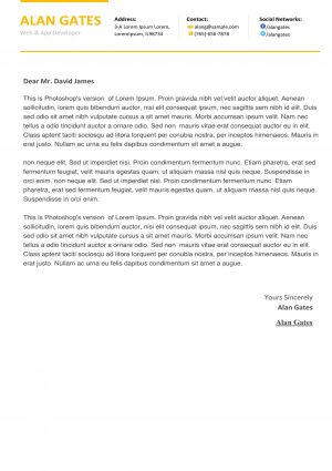 Clean Developer cover letterTemplate