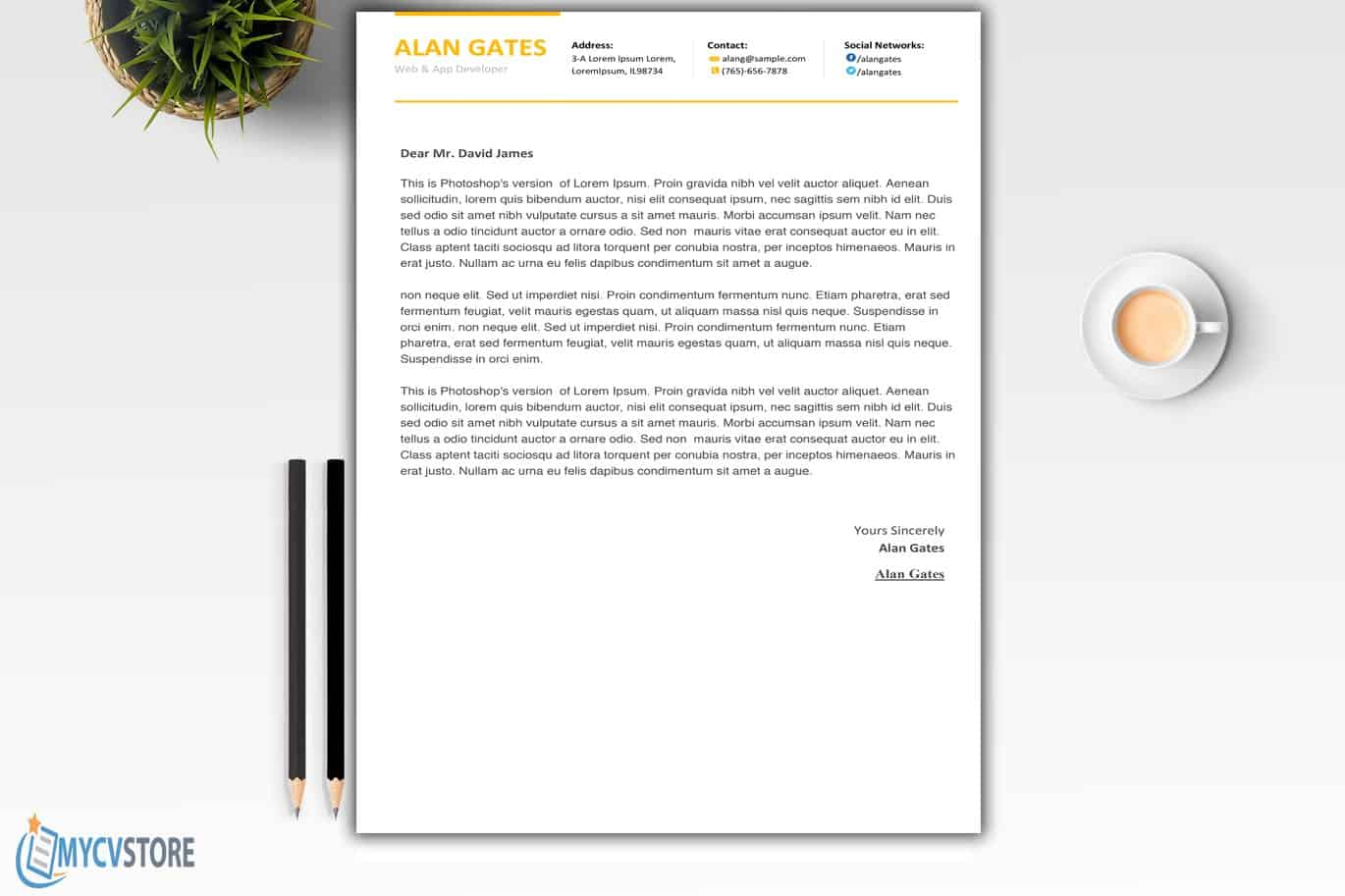 Clean Developer cover letterTemplate