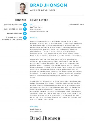 Creative Professional cover letter