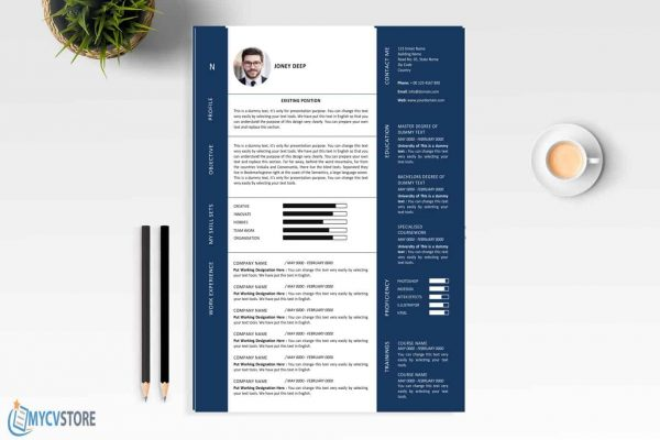 Modern Graphic Designer Resume