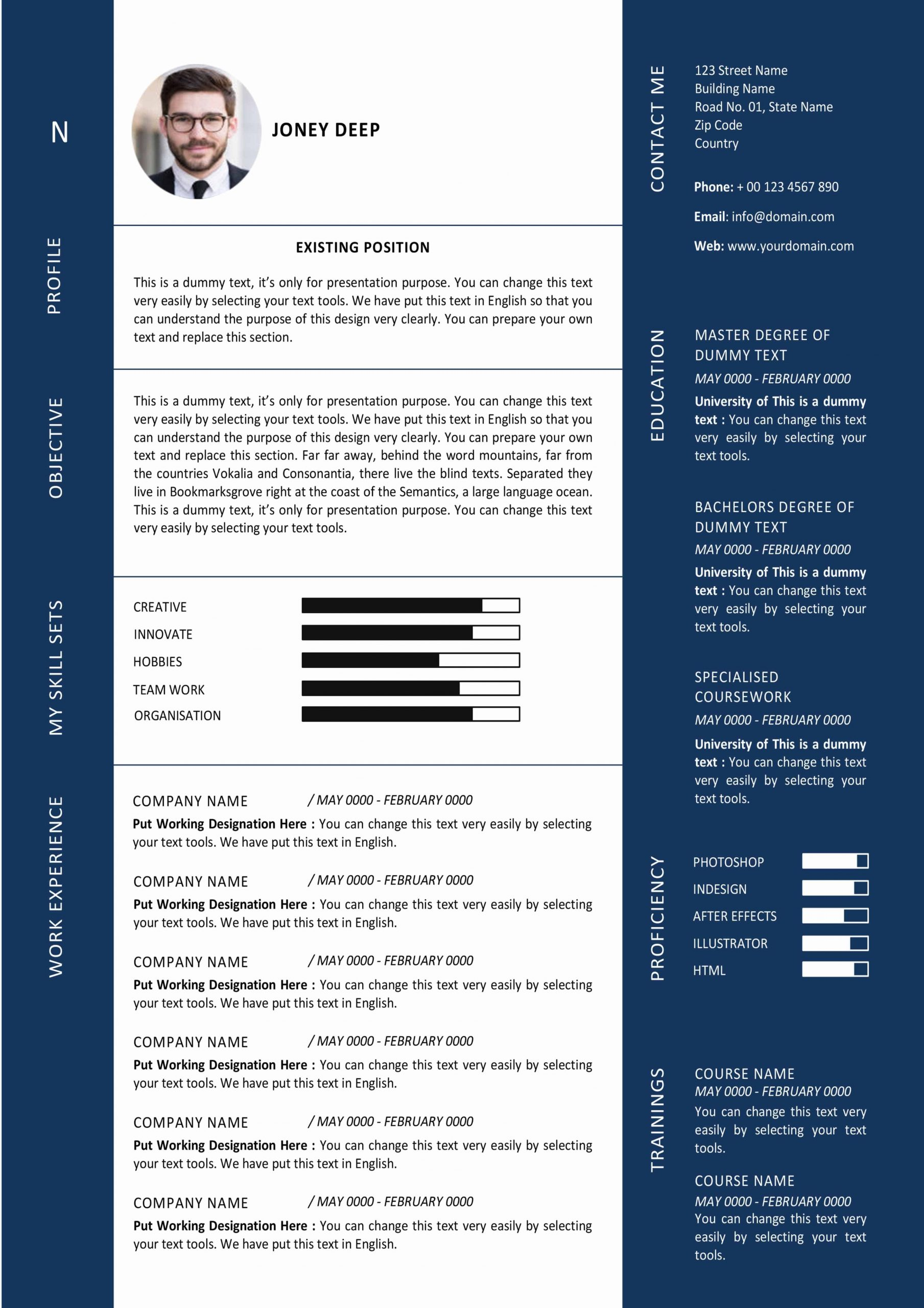 Modern Graphic Designer Resume Template Ms Word Format Download