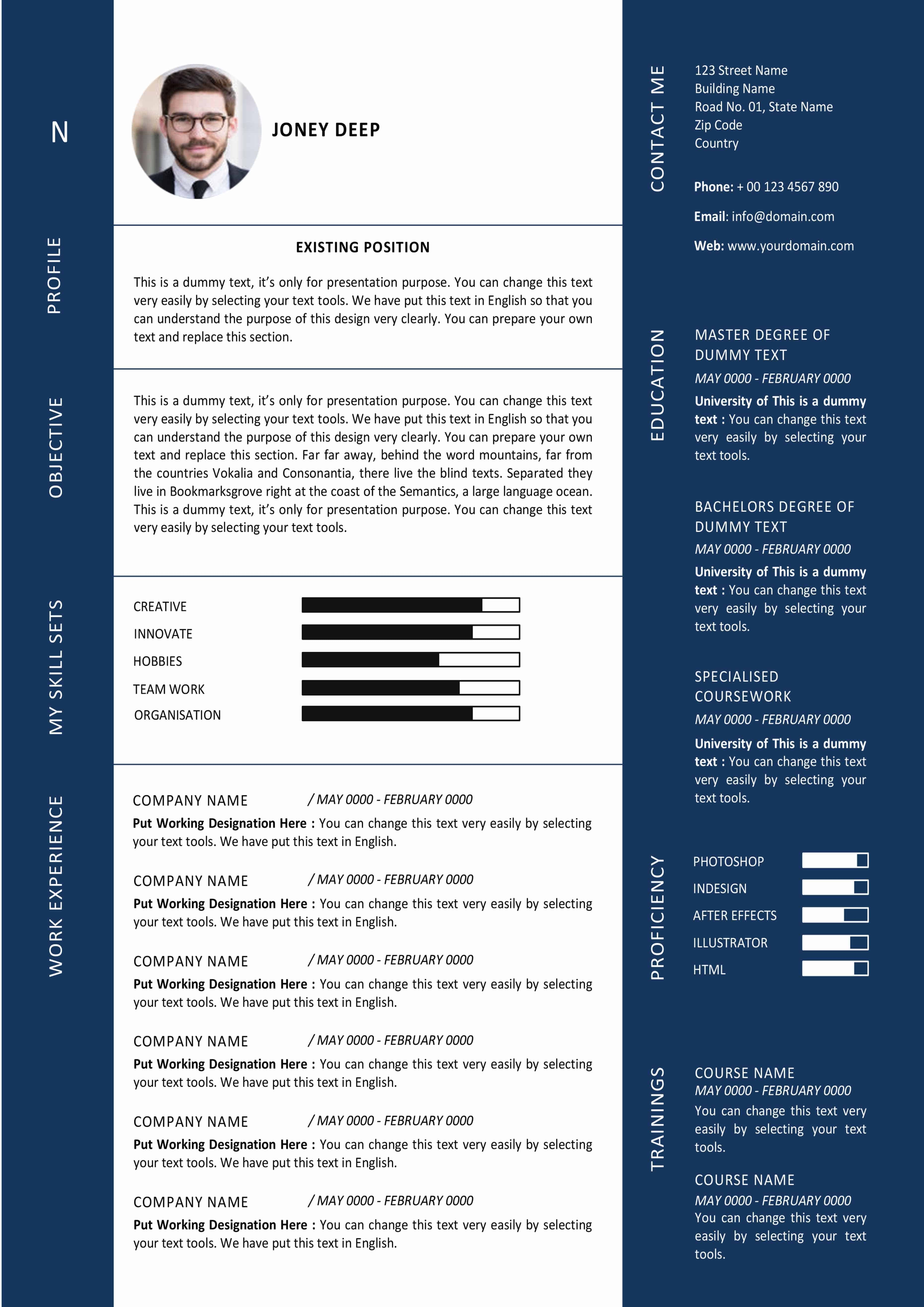 modern graphic designer resume template  ms word format