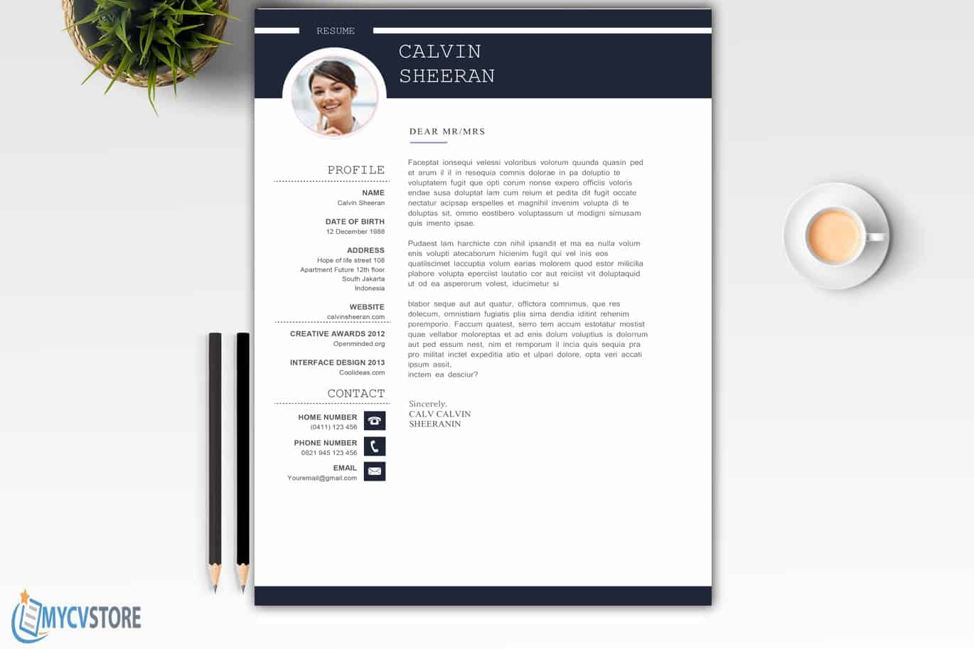 Professional Cover Letter MS Word
