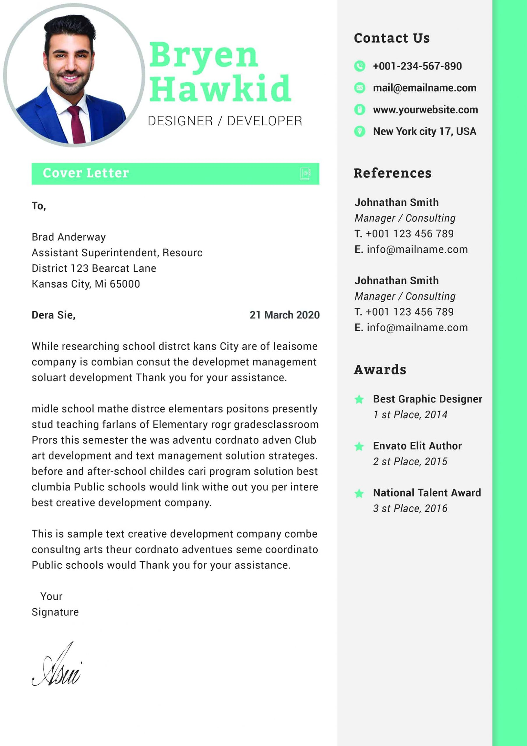 Graphic Designer Cover Letter Template from www.mycvstore.com
