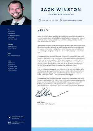 Printable Clean cover letter