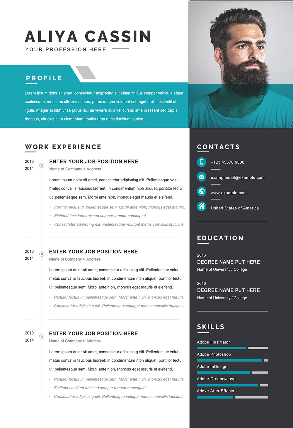 Detailed Cv Word Format Template Editable Downloadable