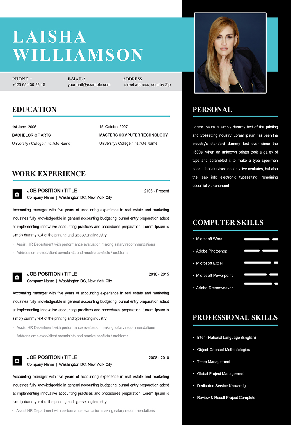 Caregiver Resume Sample In Word Cv Templates In Word To Download
