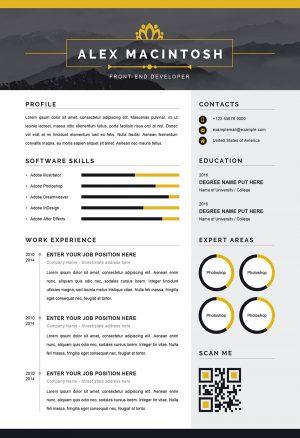Modern Resume Word Template