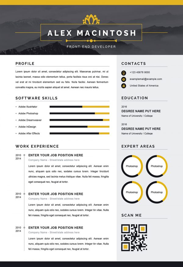 Modern Resume Word Template