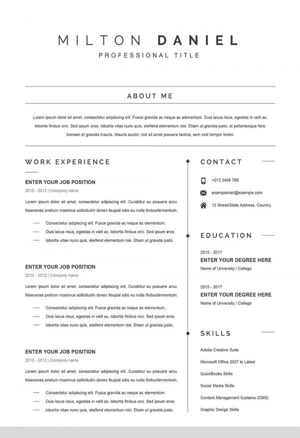 Professional Word CV Template