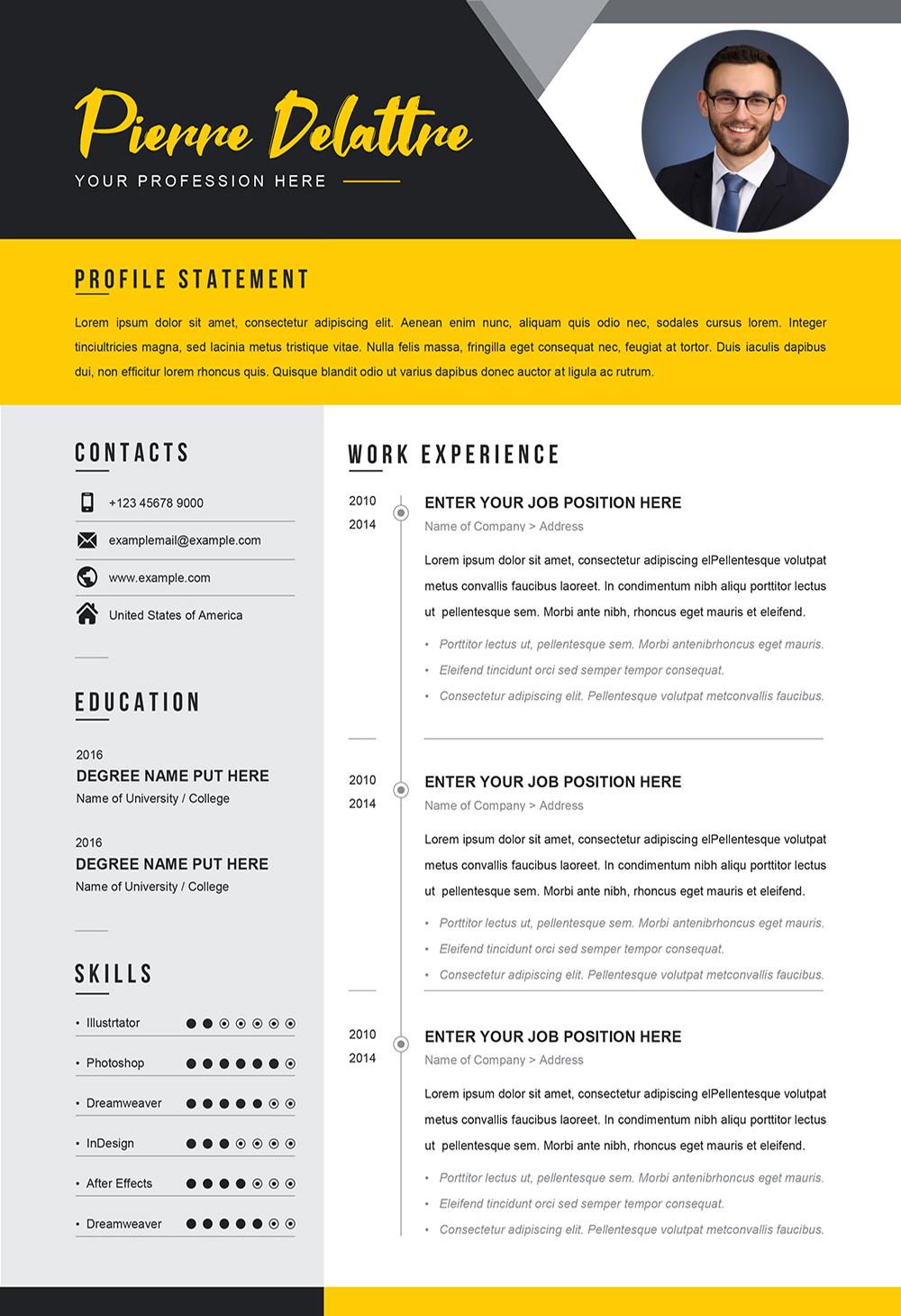 Sample CV for Job - Editable CV Word