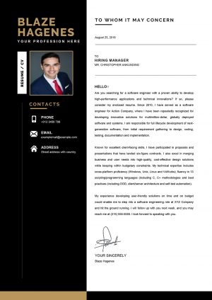 Clean Agricultural Cover Letter Template