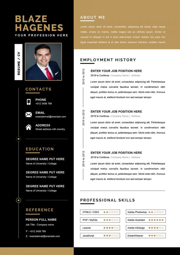 Clean Agricultural Resume Template