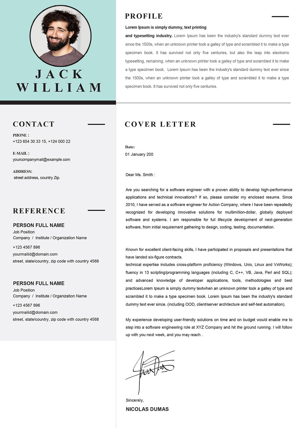 Modern Cover Letter Template from www.mycvstore.com