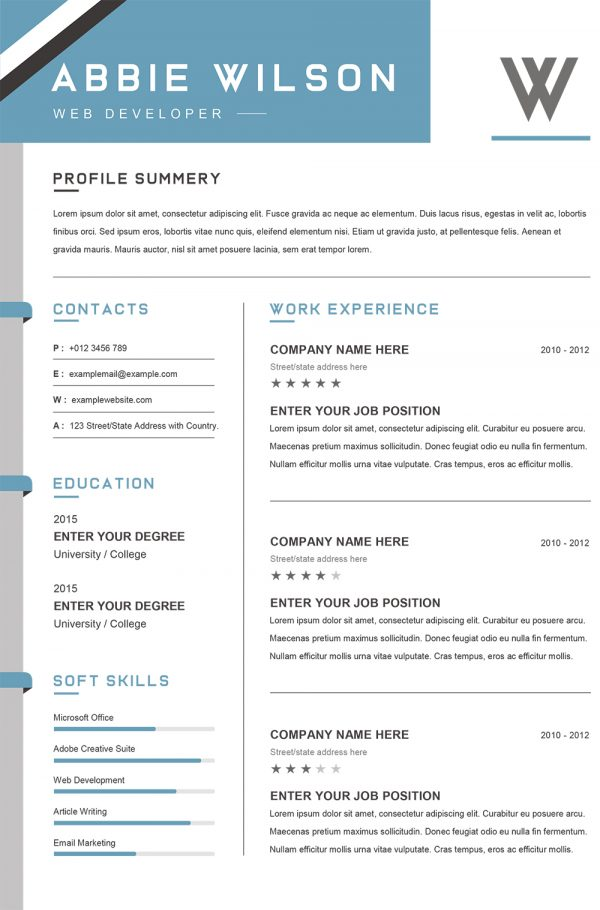 Custom resume writing words to use
