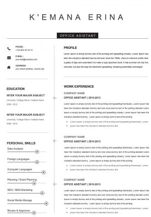 Creative CV Word Format to Download