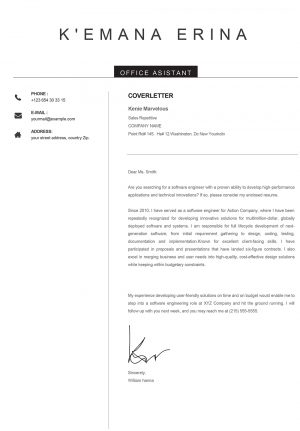 Creative Cover Letter Word Format to Download